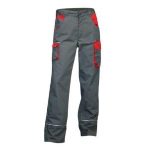 Pantalon mécanicien bicolore LIN gris et rouge