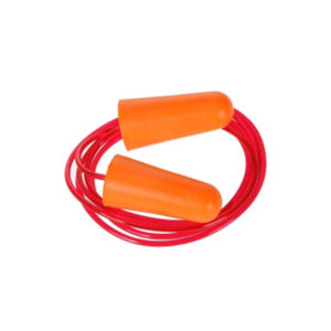Bouchons d'oreilles mousse avec cordon SNR 37 dB